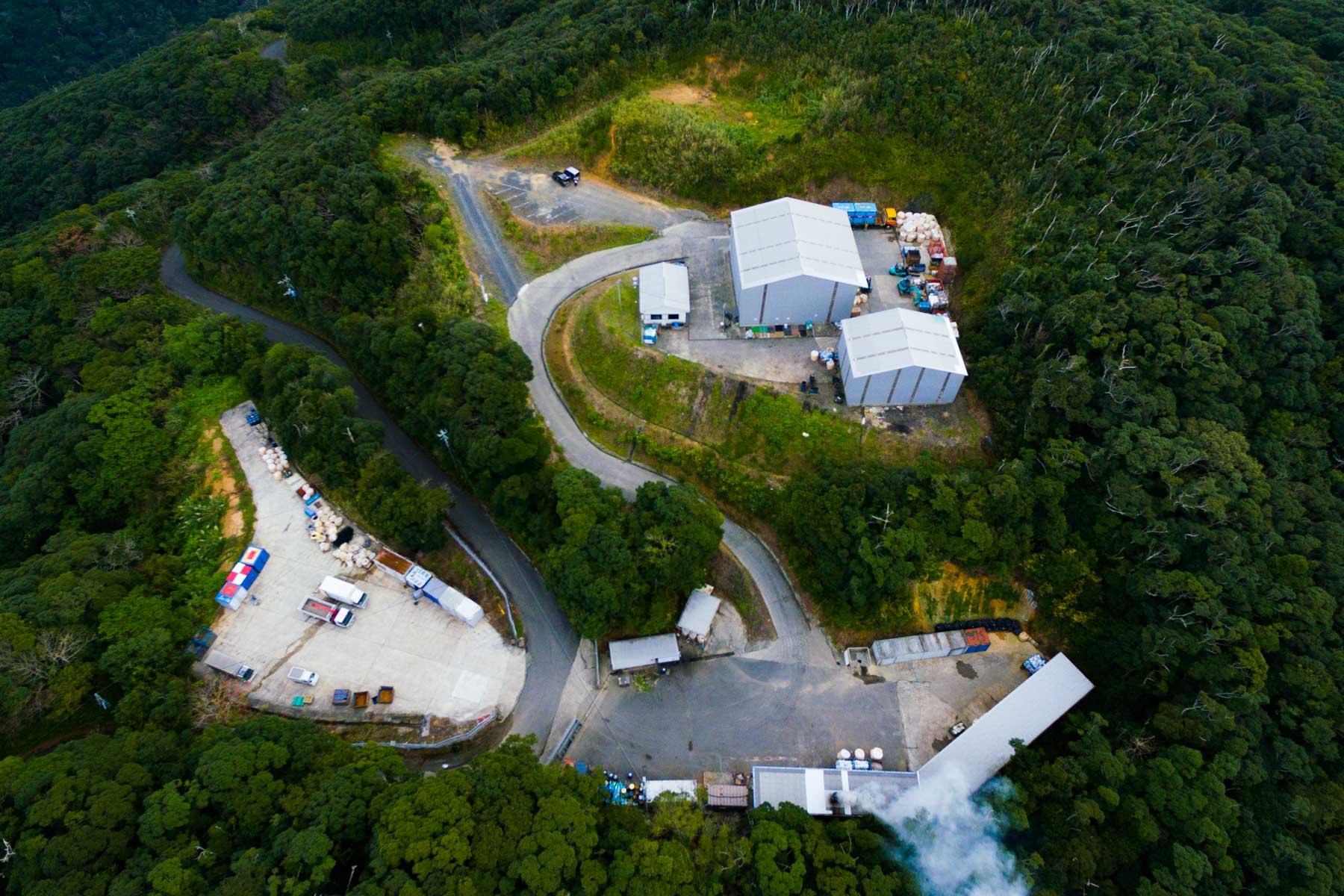 リベラル資源リサイクル工場ドローン空撮 写真